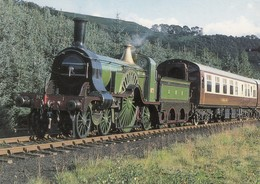 Postcard GNR Steam Locomotive In Action North Yorks Railway In 1985 PU 2000  [ Train ] My Ref  B23708 - Trains