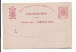 Luxemburg P 24 ** - 12 1/2 Ct Wappen Doppelkarte - Ganzsachen