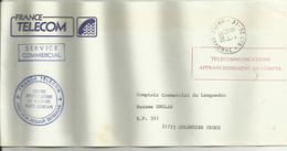 Lettre Saint Lys TELECOMMUNICATIONS AFFRANCHISSEMENT EN COMPTE 1990 - Marcophilie (Lettres)