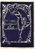 EX LIBRIS - ALVARREZ JESUS. CIRCA 1915. GRABADO ENGRAVING GRAVURE. -LILHU - Ex Libris