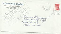 Lettre GAP 1999 N'habite Pas L'adresse Indiquée - Marcophilie (Lettres)