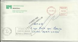 Lettre Paris 1985 N'habite Pas L'adresse Indiquée - Marcophilie (Lettres)