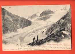 TSP-33 Glacier D'Otemma Et Bec D'Epicum  Au Sud Du Pigne D'Arolla, Alpinistes, Val Hérens-Bagnes. Précurseur, Circulé - VS Wallis