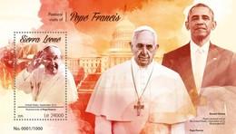 Sierra Leone 2015. [srl15612] Pope Francis (s\s+bl) - Popes