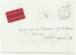 Lettre Villard-de-Lans 1994 TAXE DISTINGO OBJETS SIGNALES - Marcophilie (Lettres)