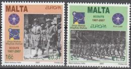 Malta 2007 Yvert 1469 - 1470 Neuf ** Cote (2015) 4.50 Euro Europa CEPT Le Scoutisme - Malte