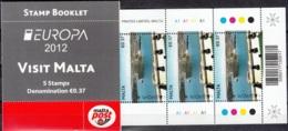 Malta 2012 Yvert Carnet 1652 Neuf ** Cote (2015) 5.75 Euro Europa CEPT Tourisme Port De Malta - Malte