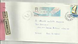 Lettre Recommandée AR Niort RP Pour Paris 1990 - Marcophilie (Lettres)