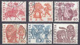 HELVETIA - SUISSE - SVIZZERA - 1977 - Lotto Di 6 Valori Usati: Yvert 1034, 1035, 1037, 1038, 1040 E 1041. - Usati