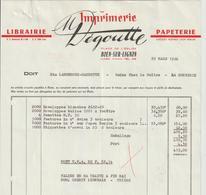 Facture De M  DEGOUTTE IMPRIMERIE_Librairie-Papeterie A BOEN 42 Adressé A Ets LAMOUROUX-GARDETTE A La Monnerie 63 - Imprimerie & Papeterie