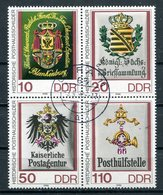 DDR Michel-Nr. 3306-3309 Viererblock Vollstempel Tagesstempel - Usati