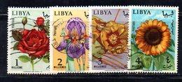 APR2361 - LIBIA 1965 ,  Serie Usata   (2380A)  FIORI - Libia