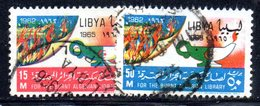 APR2362 - LIBIA 1965 ,  Serie Usata   (2380A)  BIBLIOTECA - Libia