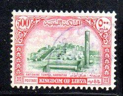 APR2366 - LIBIA 1965 , 500 Mils Monumenti Romani Usato   (2380A) - Libia