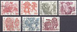 HELVETIA - SUISSE - SVIZZERA - 1977 - Lotto Di 7 Valori Usati: Yvert 1034, 1035/1038, 1040 E 1041. - Usati