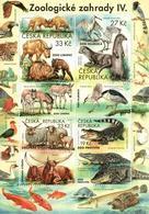 A 1038 Czech Republic Nature Protection: Zoological Gardens IV 2019 Crocodile Golden Takin Somalian Donkey Sheep Otter - Tschechische Republik