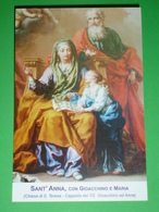 Sant'ANNA Con S.GIOACCHINO E MARIA  /Chiesa S.Teresa TORINO PP.Carmelitani - Santino - Santini
