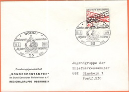 GERMANIA - GERMANY - Deutschland - ALLEMAGNE - 1973 - 50 Jahre Interpol - FDC - Bonn - FDC: Buste