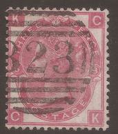 GREAT BRITAIN. QV. 3d ROSE PLATE 8. LETTERS KC. POSTMARK HAILSHAM 823. USED. - 1840-1901 (Victoria)