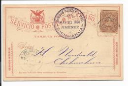 Mexico P 69 -  3 Ctv Wappen Ganzsachen-Karte Im Inland 1896 Bedarfsverwendet - Mexiko