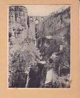 ESPAGNE RONDA Le Tage 1909 Photo Amateur   Format Environ 7,5 X 5,5 Cm - Esquela