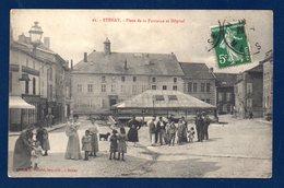 55. Stenay. Place De La Fontaine Et Hôpital. - Stenay