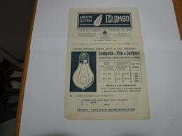 MILANO  -- LAMPADE  - LUCE  ----   SOCIETA' ELETTRICA   COLOMBO - Italia