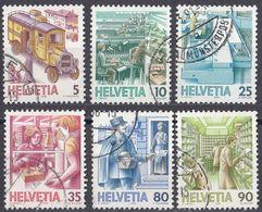 HELVETIA - SUISSE - SVIZZERA - 1986 - Serie Completa Formata Da 6 Valori Usati: Yvert 1250/1255. - Svizzera