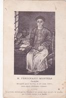 Ferdinand Montels Lazariste Décapité...portrait Exécuté Par Un Chinois Envoyé Dans Un Tube De Bambou Par Le Futur Martyr - Chine