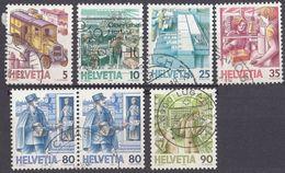 HELVETIA - SUISSE - SVIZZERA - 1986 - Serie Completa Usata Yvert 1250/1255, In Cui Il 1254 è Doppio. - Svizzera
