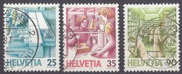 HELVETIA - SUISSE - SVIZZERA - 1986 - Lotto Di 3 Valori Usati: Yvert 1252, 1253 E 1255. - Svizzera