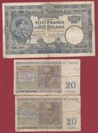 Belgique 111 Billets Dans L 'état Voir Scan - Belgien