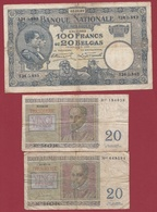 Belgique 111 Billets Dans L 'état Voir Scan - Sonstige