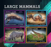 Sierra Leone 2019 Fauna  Whale ,giraffe ,rhino ,hippo   S201907 - Sierra Leone (1961-...)