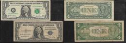 U.S.A., $1, SERIES 9135 E ( SILVER CERTIFICATE), SERIES 2001(FEDERAL RESERVE NOTE)) - Small Size (1928-...)