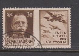 Italy PG 7 1942 War Propaganda 30c Brown,used - 1900-44 Vittorio Emanuele III