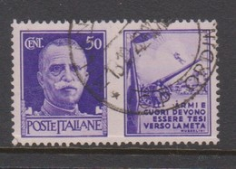 Italy PG 10 1942 War Propaganda 50c Violet,used - 1900-44 Vittorio Emanuele III