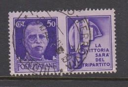 Italy PG 12 1942 War Propaganda 50c Violet,used - 1900-44 Vittorio Emanuele III