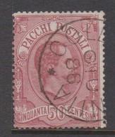 Italy PP 3 1884-86 Parcel Post 50c Carmine,used - 6. 1946-.. Republic