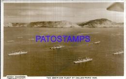 118206 PERU CALLAO VIEW PARTIAL THE AMERICAN FLEET SHIP POSTAL POSTCARD - Perú