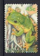 Magnificent Tree Frog (Litoria Splendida) Postally Used 45c BOOKLET SELF-ADHESIVE Stamp From AUSTRALIA 1999 - 1990-99 Elizabeth II