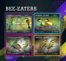Sierra Leone 2019 Fauna Bee-eaters , Birds   S201907 - Sierra Leone (1961-...)