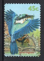 Sacred Kingfisher (Todiramphus Sanctus) Postally Used 45c BOOKLET SELF-ADHESIVE Stamp From AUSTRALIA 1999 - 1990-99 Elizabeth II