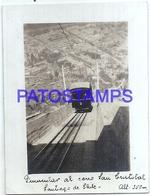 118220 CHILE SANTIAGO CERRO SAN CRISTOBAL TRAIN OLD PHOTO NO POSTAL POSTCARD - Chile