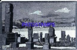 118222 BOLIVIA LA PAZ TEMPLETE TIAHUANACOTA METALIZADA METALLIZED SPOTTED POSTAL POSTCARD - Bolivia