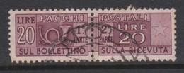 Italy Republic PP 86 1955-79 ,Parcel Post,watermark Stars, Lire 20 Brown,Used - 6. 1946-.. Republic
