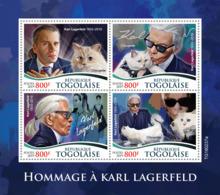 Togo  2019     Karl Lagerfeld  ,cats   Choupette  S201907 - Togo (1960-...)