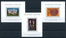 Togo Block MiNr. 330-32 A Postfrisch MNH Adenauer (O6374 - Togo (1960-...)