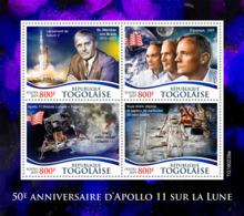 Togo  2019   Apollo 11 Landing On The Moon , Space   S201907 - Togo (1960-...)