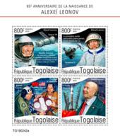 Togo  2019    Alexei Leonov , Soviet Space   S201907 - Togo (1960-...)